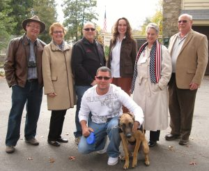 Dan & Jean Upton, Ron Aiello, Dr. Laura Weis, Jan and Bill Cope with SSgt White and Hattie
