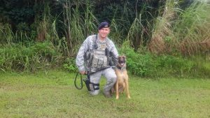 SSgt White and Hattie in Guam.